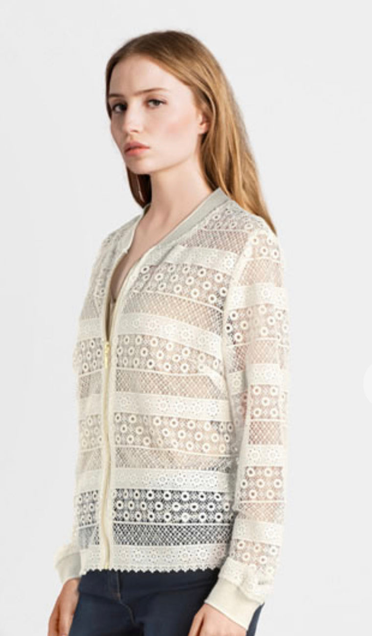 Bombers broderie anglaise VE420 By JULIE GUERLANDE