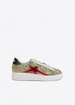Sneakers glitter 432Z88BK By LOLA CRUZ
