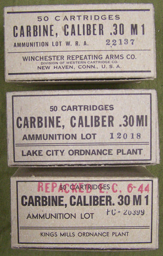 M1 Carbine Ammo Cartons