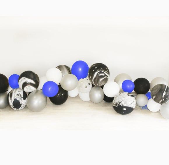 Balloon Garland Kit - Black and Blue, Star Wars inspired