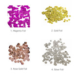 Foil confetti colour choices