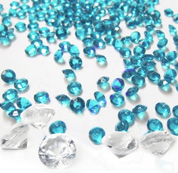 Table Scatters - Teal and Clear Diamonds