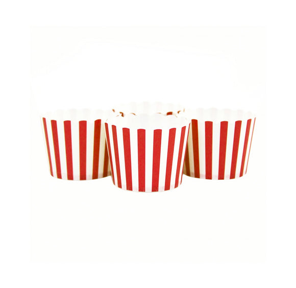 Cupcake Cups - Red Stripes - LifeStyle Emporium