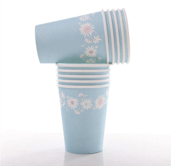 Cups - Daisy Chain Pastel Blue
