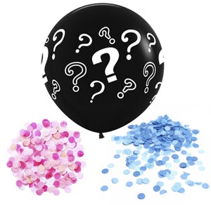 Giant 90cm Gender Reveal Balloon - Question Marks