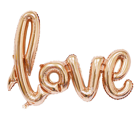 Rose Gold Love Script Balloon - LifeStyle Emporium
