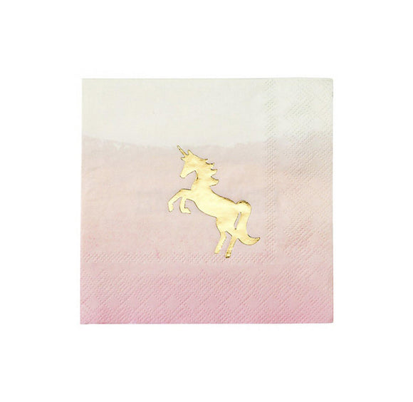 Gold Unicorn Napkins