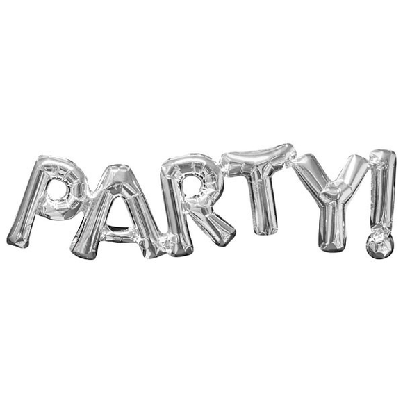 PARTY Silver Foil Balloon - LifeStyle Emporium