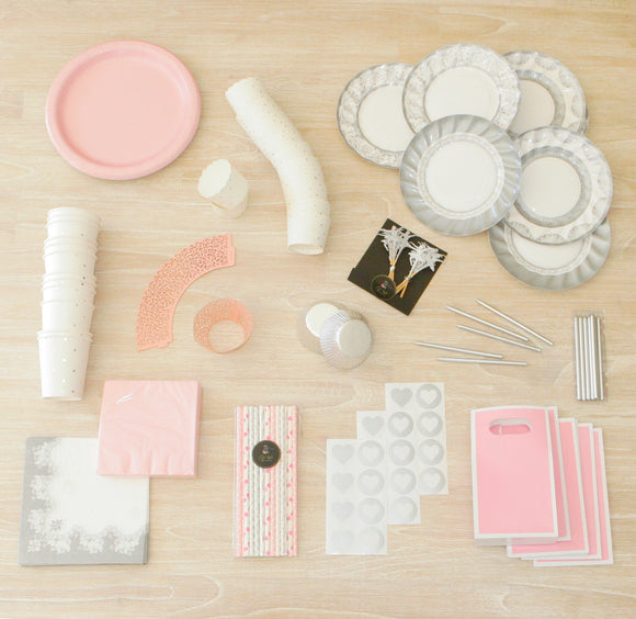 Porcelain & Pink Party Package - LifeStyle Emporium
