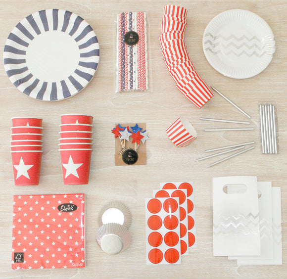 Nautical / Heroes Red Party Package - LifeStyle Emporium