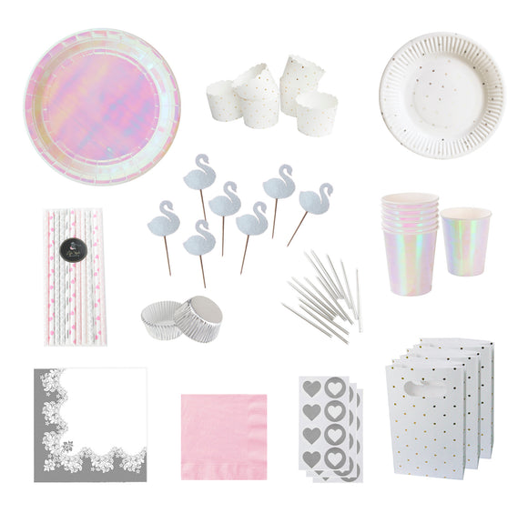 Iridescent Swan Party Pack - LifeStyle Emporium