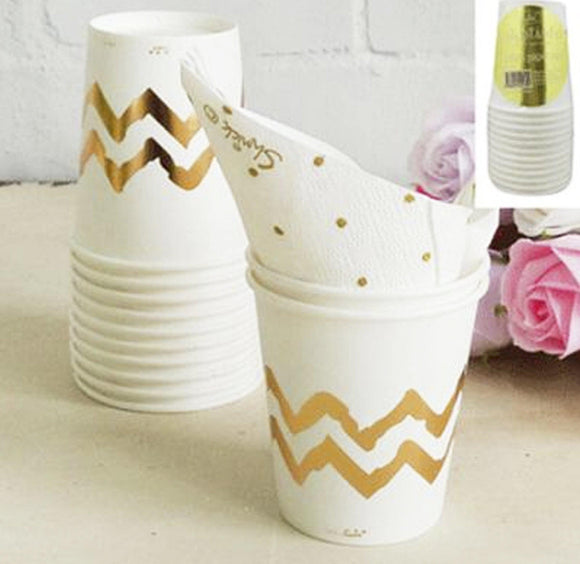 Cups - Gold Chevron