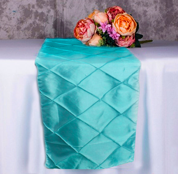 Table Runner - Teal Pintuck - LifeStyle Emporium