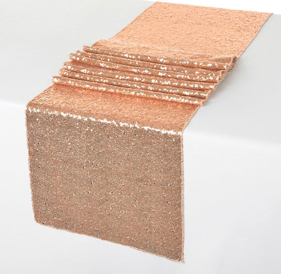 Table Runner - Sequin Rose Gold - LifeStyle Emporium