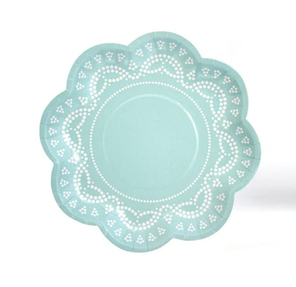 Lovely Lace Mint Plate