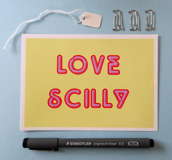 Love Scilly Postcard