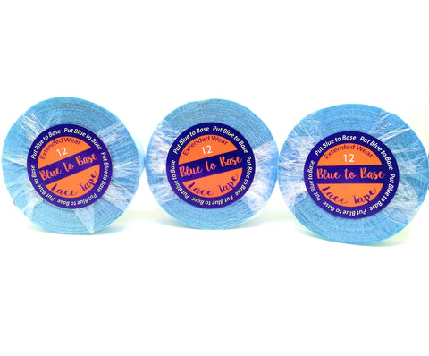 Blue to Base Tape Roll 3, 12, 36 Yards Extended Wear - Haircaredelight.co.uk