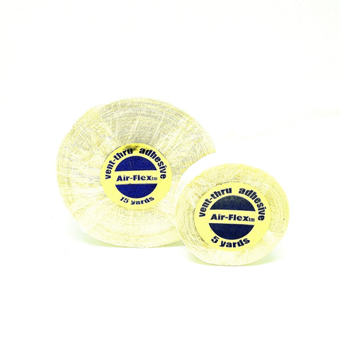 Air-Flex Vent-Thru Adhesive Tape Clear Double Sided Lace Wigs Toupees Hair Replacement 5, 15 Yards - Haircaredelight.co.uk