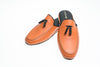 slipper, Line Loup, men, leather, orange, Ludovic, tassels
