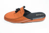 indoor slipper, orange, tassels, men, leather, Line Loup, Ludovic