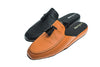 men, tassels, mule, Ludovic, orange, black, leather, Line Loup