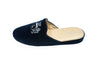 women, line loup, Stephanie, velvet, navy blue, embroidery logo, women, mule