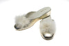 feathers, women, Marguerite, light gold, slipper, mule, calfskin, Line loup