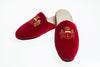Slipper, Line Loup, velvet, red, Stephanie, embroidery