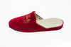 Indoor slipper, red, Line Loup, embroidery, Stephanie, velvet