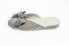 Line Loup, indoor slipper, Nicole, pearl grey, velvet, bow