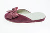 Line Loup, indoor slipper, Nicole, antique pink, velvet, bow