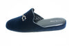 indoor slipper, navy, velvet, Line Loup, metallic bit, Cavalier II
