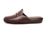 indoor slipper, brown, calfskin, Line Loup, metallic bit, Jean-Paul