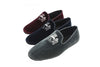 Robert-André, velvet, bordeaux, navy, grey, loafer, slippers, Line Loup, men, embroidery
