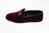 bordeaux, Robert-André, slipper, Line Loup, loafer, velvet, indoor shoe, men