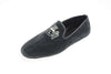 men, Robert-André, velvet, Line Loup, loafer, slippers, grey, embroidery