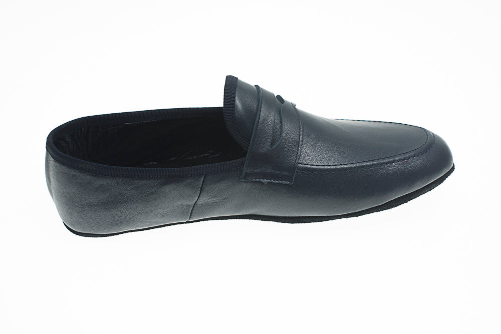 Loafer, Line Loup, men, Roby, calfskin, navy