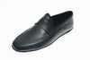 indoor slipper, calfskin, black, Line Loup, Roby, men