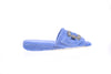 Emmanuelle, mule for women in blue toweling with cristal buckle - right side view