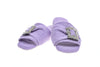 Emmanuelle, mule for women in lilac toweling with cristal buckle - pair
