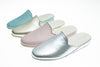 women, mule, Linette, light blue, light pink, silver, light gold, leather, Line Loup