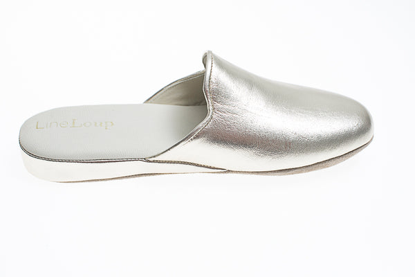 Line Loup, women, Linette, slipper, light gold, leather