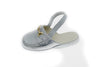 indoor slipper, metallic bit, silver, calfskin, children, Line Loup, Timeless Collection, Charlie