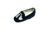 Line loup, loafer, tassels, blue, slipper, Maximilien, silver embroidery, children, velvet