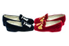 tassels, kids, Maximilien, red, blue, slipper, loafer, silver and gold embroidery, velvet, Line loup