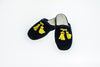 Line Loup, slippers, kids, velvet, Clara in navy, embroidery tassels in yellow, customization, Personal Touch Collection