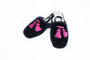 Line Loup, slippers, kids, velvet, Clara in navy, embroidery tassels in pink, customization, Personal Touch Collection