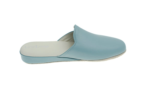 Linette, mule for women made of blue leather - right view