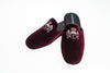 slippers, Men, mule, customization, Jason, bordeaux, embroidery initiales, Line Loup, velvet, Personal Touch collection