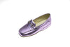 metallic pink, children, loafer , Line loup, Jeanne, slipper, mors, calfskin, Timeless Collection
